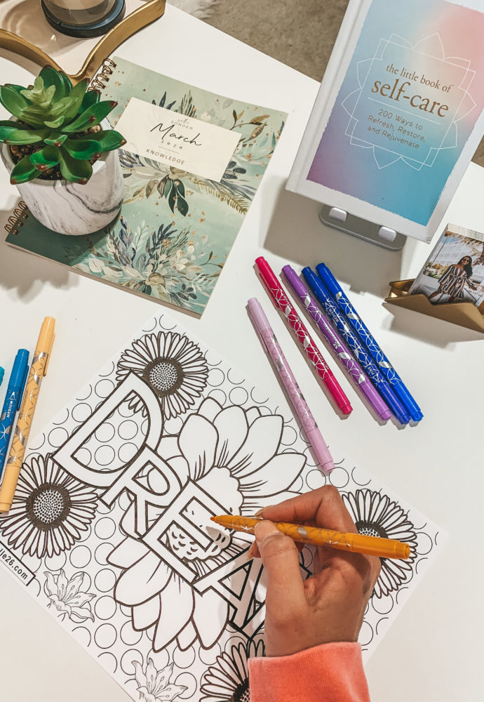 FREE learning & coloring page printable for kids and adults!